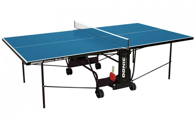 Всепогодный Теннисный стол Donic Outdoor Roller 600 синий (витринный образец)