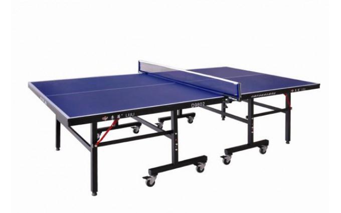 Теннисный стол LIJU, 18 мм, колеса 75 мм, синий D9802