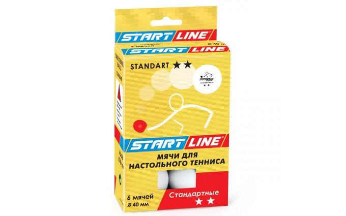 Мячи теннисные Start Line Standart 2* 6шт белые